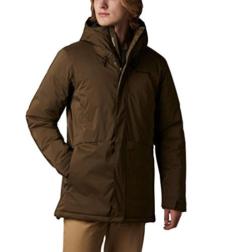 Columbia Northbounder Turbodown Parka, Hombre, Verde Olive Green Heather, L