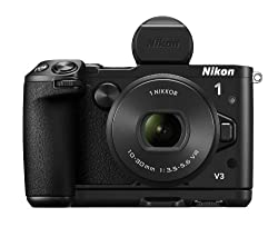 Nikon 1 V3 18.4MP Mirrorless Digital Camera with 1 Nikkor 10-30mm PD Zoom Lens (Black)