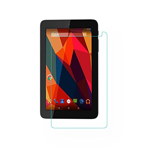 Colorcase Combo Set of Flip Cover with Tempered Glass for Micromax Canvas Tab P681