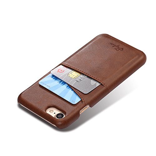 Case per iPhone 6 Card ,Cover per iPhone 6, Bonice Vintage Synthetic Leather Wallet Ultra Slim Professional Executive Snap On Cover with 2 Card Holder Slots Case Cover per iPhone 6/6S (4.7 pollici) +  Marrone