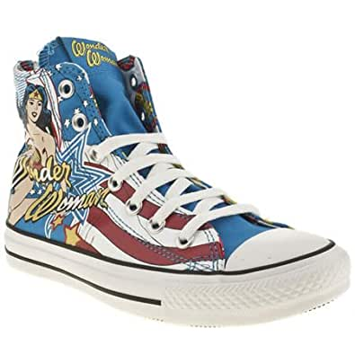 Converse all star hi iiii wonder woman 5 uk blue for Converse all star amazon