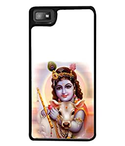 Fabcase Lord Krishna With Baby Cow Designer Back Case Cover for BlackBerry Z10