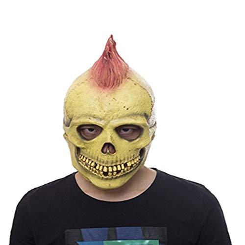 HZJA Halloween Beängstigend Biochemische Krise Dämon Skelett Blutige Fäulnis. Maske, Terror Ghost Bar Prom up Mask (Weißen Gesicht Beängstigend)
