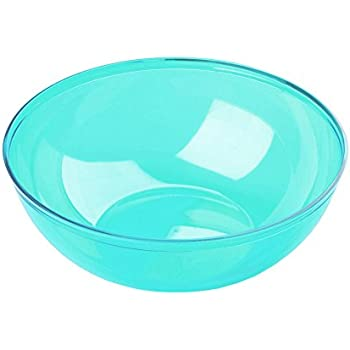 MOZAIK Plastic Round Bowls 14 cm Color Turquoise, 4 Pieces (400 ml)