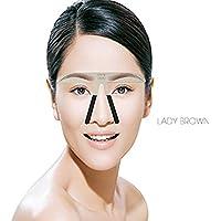 Metal Cejas Grooming Plantilla Card - Namee Brow Perfection Stencils Permanente Eyebrow Herramientas Shaping Plantillas DIY Maquillaje Belleza Accesorios (LADY EYEBROW)