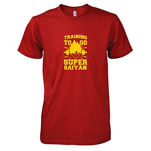TEXLAB - Training to go Super Saiyan - Herren T-Shirt Rot
