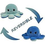 Topways éversible Mignonne en Peluche Jouets, Poupée de Poulpe Flip Double Face, Reversible Octopus Plush Toy Cadeaux de…