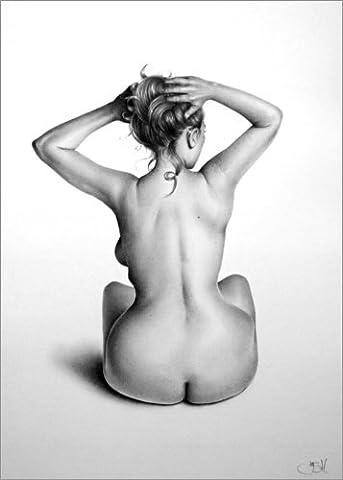Alu Dibond 80 x 110 cm: Nude Study: Emma by Ileana Hunter