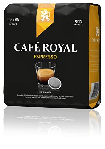 Café Royal Espresso 180 kompatible Kaffeepads für Senseo (Intesität 5/10) 5er Pack (5 x 36 Kaffee-Pads)