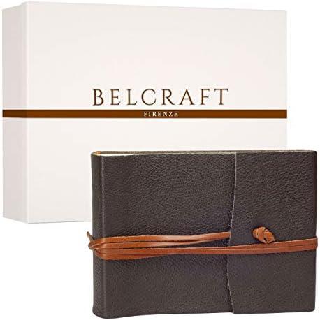 Belcraft Capri Album Album Album Fotografico in Pelle, Realizzato a Mano da Artigiani Toscani, A5 (16x21 cm) Marronee | Materiali selezionati  | Uscita  | Specifica completa  272740