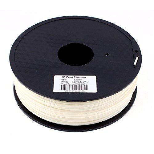 Preisvergleich Produktbild sourcingmap® Weiß 3mm ABS 1kg/2,2lb 3D Drucker Filament für Makerbot Ultimaker ULT de