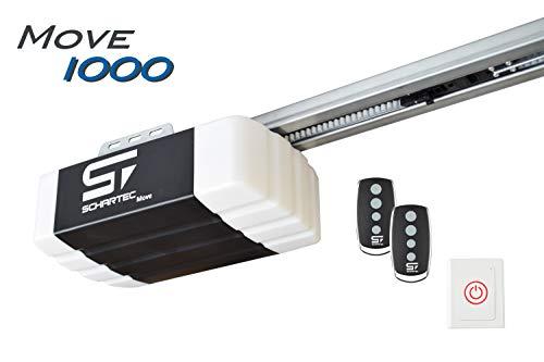 Schartec Move 1000 Garagentorantrieb Serie 2 Set inkl. 2 Handsender und Schiene - elektrischer Torantrieb - Garagentoröffner für Schwingtor und Sektionaltor Garagentor Antrieb - Garagentor-sicherheit