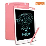Richgv LCD Writing Tablet, 10 Inch Electronic Drawing Board Graphic Tablets with Memory Lock, Handwriting Paperless Notepad Suitable for Home Job School Office Blackboard (Pink)