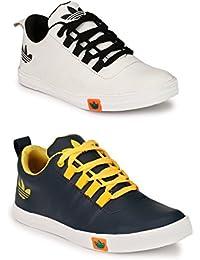 Lavista Men's Blue And White Sneaker Casual Shoe