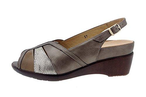info for 30fc0 e97a8 Amovible Sandale Taupe Confort Amples Cuir Confortables Chaussure Piesanto  Femme 8156 En Semelle OwCq84