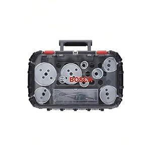 Bosch Professional Progressor for Wood and Metal Set de 11 unidades de sierras de corona (para electricistas, accesorios para taladro)