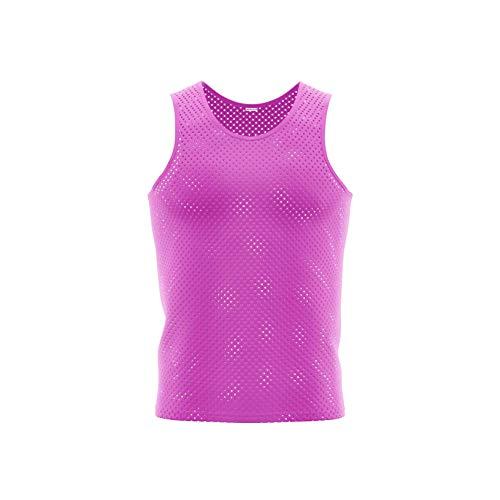 Justteamsport 10x Markierungshemden/Trainingsleibchen 6 Farben - 3 Größen lieferbar (Pink, Senior)
