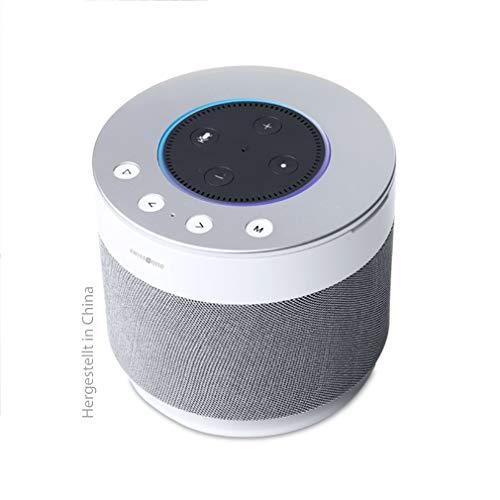 Swisstone Dotbox 1 Bluetooth-Lautsprecher (Akkubetrieb, 360° Surround Sound, Made for Echo Dot (2. Gen.)) weiß