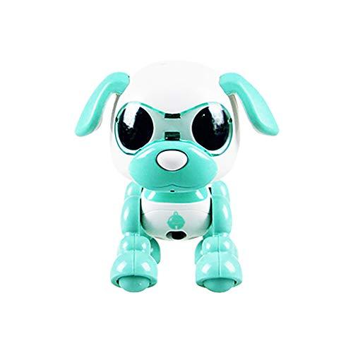 12shage Roboterhund, elektronisches Haustier, Roboter Hund, macht Saltos, tanzt, zeigt Gefühle, viele weitere Spielmöglichkeiten (Minzgrün)
