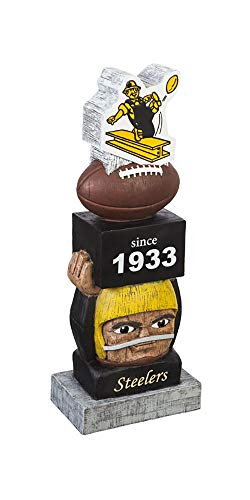 Team Sports America Pittsburgh Steelers Vintage NFL Tiki Totem Statue