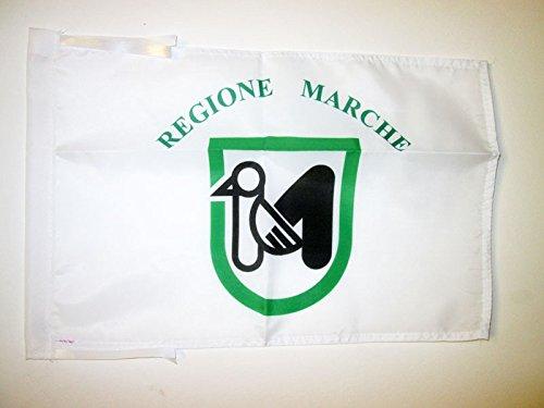 AZ FLAG Flagge Marken 45x30cm mit Kordel - Marche IN Italien Fahne 30 x 45 cm - flaggen Top Qualität