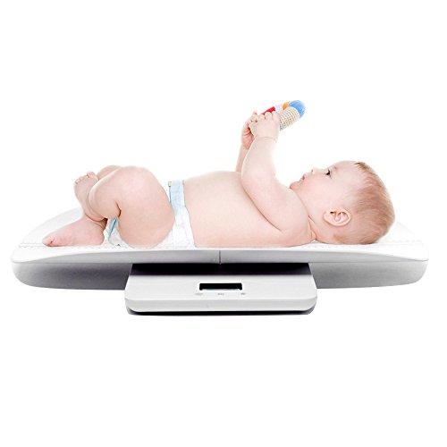 2 in1 Multifunktion Digitale Babywaage für Baby / Erwachsene / Haustiere, Maße Gewicht von 0-100kg, Maßhöhe innerhalb 60 cm, passend für ganze Familie