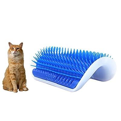 Kiao Corner Massage Pet Cat Self Groomer Comb Cat Toy With Catnip