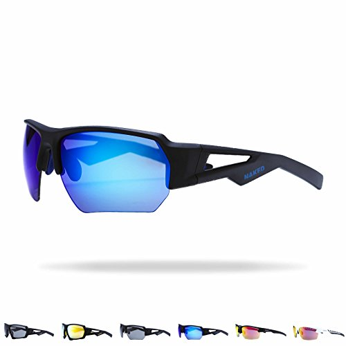 NAKED Optics Sportbrille (Halfframe Black/Lens Blue)
