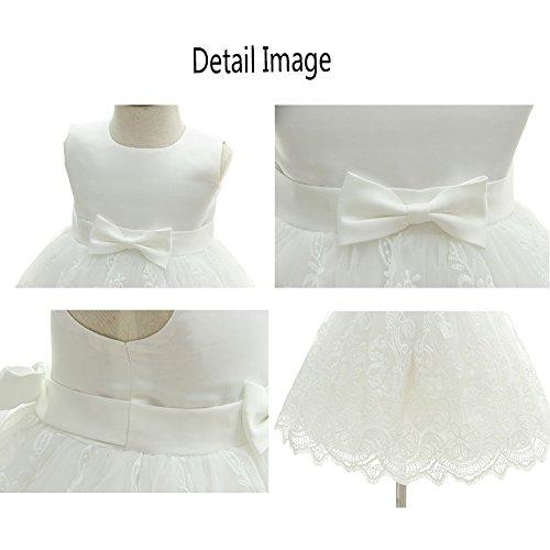 AHAHA Baby Mädchen Prinzessin Kleid Blumenmädchenkleid Taufkleid Festlich Kleid Hochzeit Partykleid Festzug Babybekleidung - 5