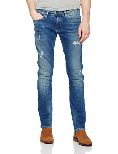 Hilfiger Denim Slim Scanton Vidst, Jeans Homme Bleu (Vintage Indigo Stretch Destructed)