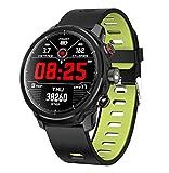 STEAM PANDA Relojes Inteligentes Pulsera para Hombres Dinámica del Ritmo cardíaco Monitoreo Consumo de calorías Círculo Completo Toque Iluminación LED IP68 Impermeable 380MAH Bluetooth 4.0