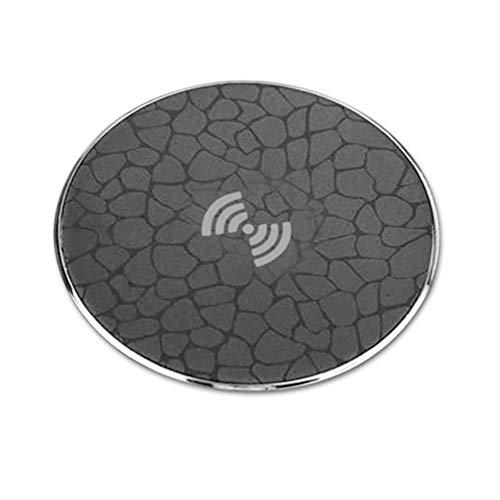 ZUKN Qi Wireless-Schnellladegerät für Qi-fähige Geräte Schnelles Aufladen des Mobiltelefons Mobiles Ladegerät Ultradünnes, rundes Wireless-Ladegerät (Mobile Telefone Boost Blau)