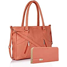 Flora Combo Of Pu Leather Women's Handbag And Wallet Clutch