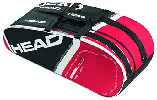 Head Core - Borsa per 6 racchette, Core, nero, 74 x 28 x 30 cm