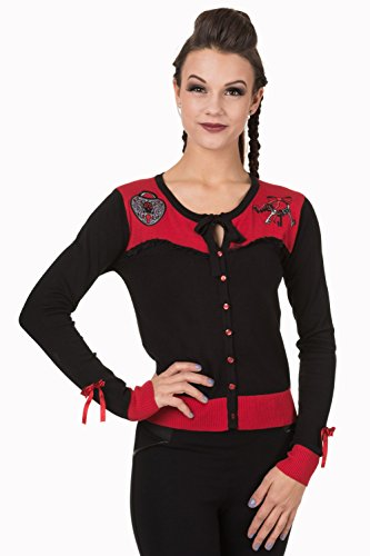 Banned Apparel - Captivated Black/Red Cardigan S / Black/Red