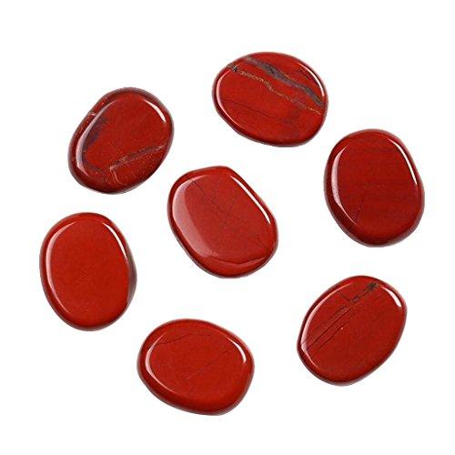7pcs diaspro rosso pietre di cristallo l'energia reiki