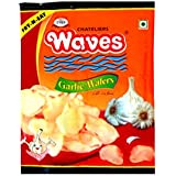 Chateliers Waves Garlic Wafers (100 Grams x 3)