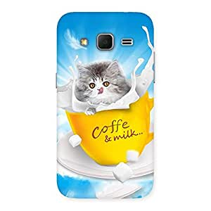 Coffee Kitty Back Case Cover for Galaxy Core Prime
