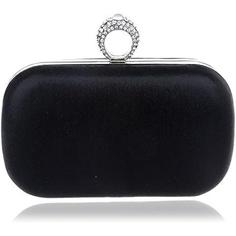 Banchetto socialite camoscio borse di lusso lusso sera borse squisita Crown Diamond cena borsa tote borse tinta unita una borsa a tracolla,Rosso