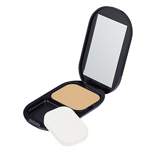 Max Factor Facefinity Compact Foundation, Farbe 005 sand, feuchtigkeitsspendendes Make-up, 10 g (Factor Max Compact)