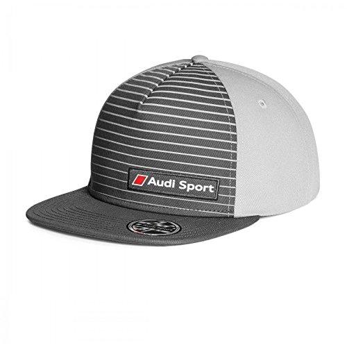 Audi 3131802400 Snapback Cap Basecap Mütze Sport Kappe, 55-59cm, Grau
