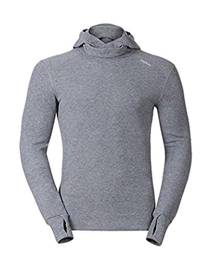 Odlo Herren Shirt Long Sleeve with Facemask Warm, Grey Melange, L, 152072