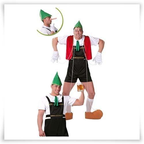 Guirca - Disfraz adulto tirolés-marioneta 80598