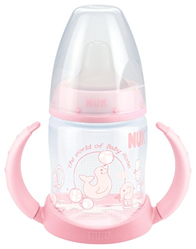 NUK 10215053 - NUK - Baby Rose PP-Trinklernflasche FIRST CHOICE, 150 ml