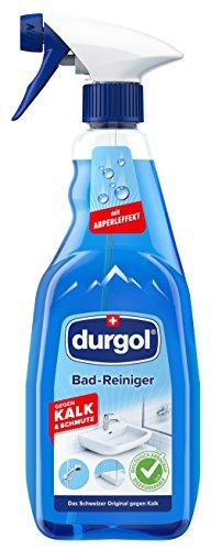durgol Badreiniger mit Abperleffekt & ohne Trocken wischen – für Dusche, Fliesen, Waschbecken,...