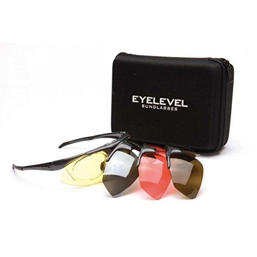 Fishoot Latzhose Eyelevel Challenger Herren Damen Unisex Interaktives Sport Sonnenbrille