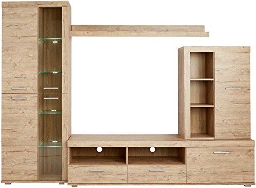 Wohnwand – Stella Trading Club  Anbauwand Holzdekor kaufen  Bild 1*
