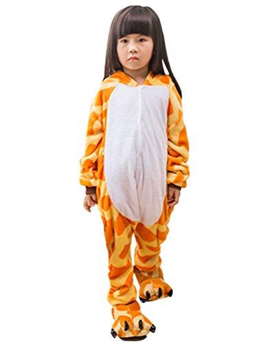 MissFox Unisexe Combinaison Kigurumi Pyjama Enfants Anime Cosplay Fête Costume Nuit Vêtements Girafe 125