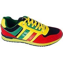 Rosie Shoes Jamaican Sneaker - Zapatillas para hombre Gold Green Black