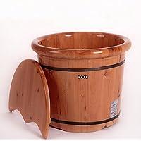 XWQ Piede Barrel / Cedar 40 centimetri pediluvio Barilotto di legno / Salute pediluvio con il coperchio / Botti domestica del piede ( colore : 40CM With Lid )